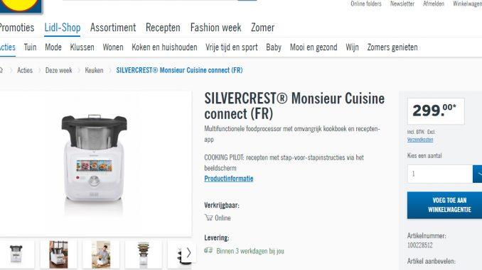 Come Comprare Monsieur Cuisine Connect Dal Sito Lidl Belgio